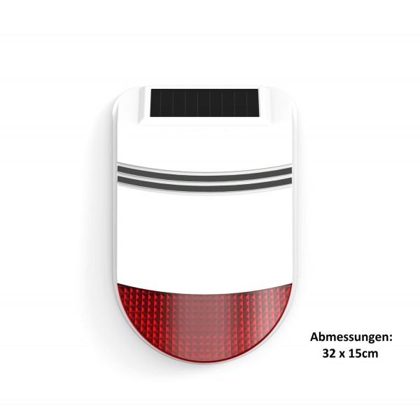 Safe2Home® Solar Funk Außensirene / Außenalarm für Serie SP310 - GSM WIFI Alarmsytem