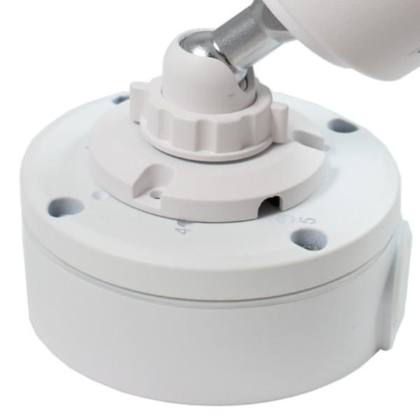 Safe2Home® Kamera Montagesockel für Funk / POE Kameras - Wasserfest - Videokamera Montagebox Weiß