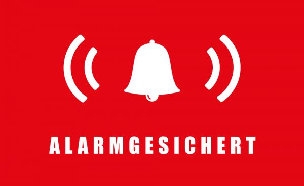 Safe2Home® 9er Set Aufkleber Alarmgesichert - Klebefläche Rückseite 5x3 cm Rechteckig Alarm Sticker