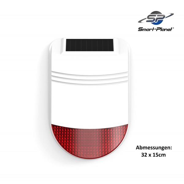 Safe2Home® Solar Funk Außensirene Serie SP110 / SP210 / SA100 - mit Repeater Funktion